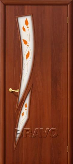Межкомнатная ламинированная дверь 8П итальянский орех