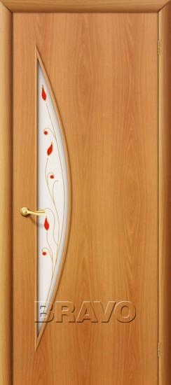 Межкомнатная ламинированная дверь 5П миланский орех