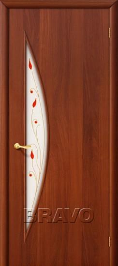 Межкомнатная ламинированная дверь 5П итальянский орех